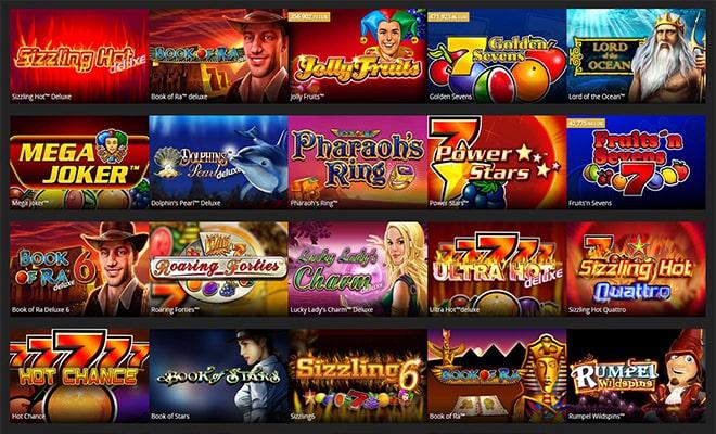 casino novomatic games