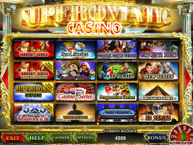 Superomatic casino gaming system