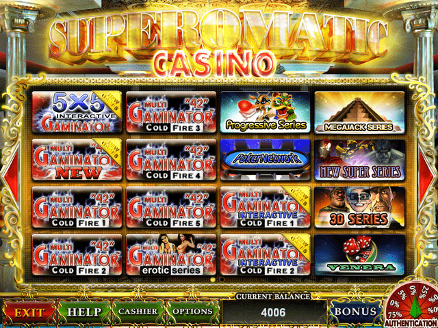 Superomatic casino gaming system online slots