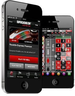 Mobile gambling on a smartphone