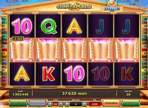 Coin of Apollo video slot from Greentube