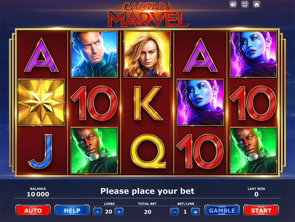 Captain Marvel slot by BrandGames